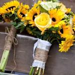 sunflower-bridesmaid-bouquets